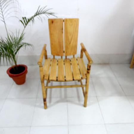 Unique furniture combining Bamboo and Rubber wood  Tripura Forest